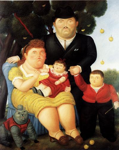Una familia. (Fernando Botero, 1996)